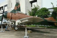 142072 @ DMK - This particular airplane was deployed on the carriers USS Hancock, USS Midway, USS Ranger and USS Oriskany. Last duty with 56th SOW, 602 SOS in Nakhon Pathom, Thailand. Today displayed at RTAF Museum. - by Jean M Braun