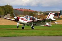 G-BYSI @ EGBR - Departure - by glider