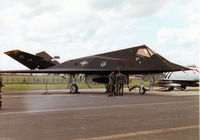 85-0834 @ MHZ - F-117A Nighthawk, callsign Trend 72, of 8th Fighter Squadron/49th Fighter Wing at Holloman AFB on the flight-line at the 1997 RAF Mildenhall Air Fete. - by Peter Nicholson