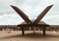 85-0819 @ MHZ - This F-117A Nighthawk, callsign Trend 71, of 7th Fighter Squadron/49th Fighter Wing at Holloman AFB was on display at the 1997 RAF Mildenhall Air Fete. - by Peter Nicholson