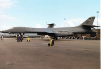 86-0123 @ MHZ - B-1B Lancer, callsign Dark 41, of the 9th Bomb Squadron/7th Bomb Wing at Dyess AFB on display at the 1997 RAF Mildenhall Air Fete. - by Peter Nicholson