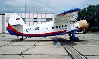 OM-JIG @ LZIB - Antonov An-2R [1G186-21] (Slov Air) Bratislava~OM 21/06/1996
