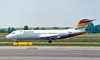 OE-LFH @ LOWW - Fokker F-70 [11554] (Tyrolean Airlines) Vienna - Schwechat~OE 20/06/1996