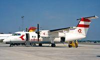 OE-LRT @ LOWW - DHC-8-103A Dash 8 [273] (Rheintal/Austrian ) Vienna-Schwechat~OE 20/06/1996
