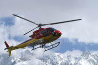 F-GYRE - Rescue helicopter on training exercise over the Mer de Glace (glacier),  near Chamonix, France - by Neil Henry