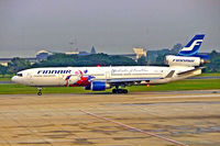 OH-LGA @ VTBD - McDonnell-Douglas MD-11 [48449] (Finnair) Bangkok~HS 12/11/2005. Taken through the glass of the terminal.