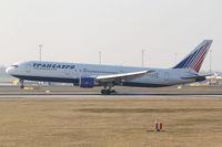EI-DBF @ LOWW - Transaero Boeing 767 - by Thomas Ranner