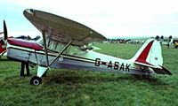 G-ASAK @ EGTH - Beagle A.61 Terrier 2 [B.604] Old Warden~G 11/07/1982. Image taken from a slide. Now registered in France.