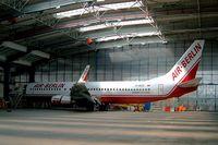 D-ABAS @ LKPR - Boeing 737-86J [28073] (Air Berlin) Prague-Ruzyne~OK 07/05/2002 - by Ray Barber