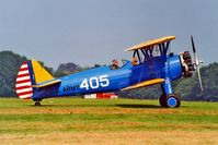 OO-JEH @ EBDT - Boeing Stearman PT-17 Kaydet [75-442] Schaffen-Diest~OO 12/08/2000. Coded *405*. Since become French registered.