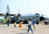 163310 @ SWF - 163310 (QH-3310), 1985 Lockheed KC-130T Hercules of VMGR-452, 1989 Stewart International Airport Air Show, Newburgh, NY - by scotch-canadian
