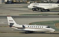 N308QS @ KLAX - Taxiing to parking