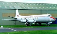 G-AMOG @ EGWC - Vickers 701 Viscount [7] (British European Airways) RAF Cosford~G 09/06/1996. Now preserved with National Museum of Flight Scotland and stored.