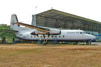 PK-YPU @ WIHH - Fokker F-27-200 Friendship [10222] (Trigana Air Service) Jakarta-Halim~PK 25/10/2006. Seen here minus engines and wheels.
