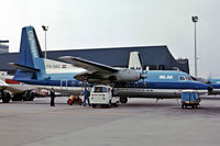 PH-SAD @ EHAM - Fokker F-27 Friendship 200 [10272] (NLM) Amsterdam-Schiphol~PH 29/08/1976. Image taken from a slide.
