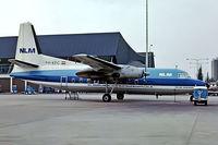 PH-KFC @ EHAM - Fokker F-27 Friendship 200 [10200] (NLM) Schiphol~PH 29/08/1976. Early scheme. Image taken from a slide.