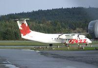 C-FACT @ CYCD - DeHavilland Canada DHC-8-311 of Buzz at Nanaimo Airport, Cassidy BC