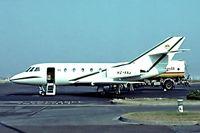 HZ-KA3 @ EHAM - Dassault Falcon 20C [174]  Amsterdam-Schiphol~PH 10/06/1982. Image taken from a slide.