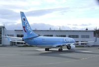 OO-JAQ @ CYQQ - Boeing 737-8K5 of CANJET at Comox Airport