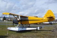 CF-GYF @ CAH3 - Stinson 108-2 Flying Station Wagon on floats at Courtenay Airpark, Courtenay BC - by Ingo Warnecke