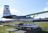 C-FQRZ @ CAH3 - Cessna 182B on floats at Courtenay Airpark, Courtenay BC - by Ingo Warnecke