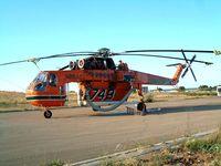N218AC @ LIBD - Sikorsky S-64E Sky Crane [64033] (Erickson Air Crane) Bari-Palese~I 14/07/2004. Coded *749* named Elsie.