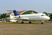 PK-TWM @ WIHH - Fokker F.28-4000 Fellowship [11183] (Transwisata Airlines) Jakarta-Halim~PK 25/10/2006