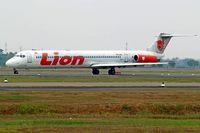 PK-LMJ @ WIII - McDonnell Douglas DC-9-82 [49262] (Lion Airlines) Jakarta-Soekarno Hatta Int'l~PK 26/10/2006