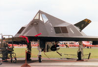85-0834 @ MHZ - F-117A Nighthawk, callsign Trend 72, of the 8th Fighter Squadron/49th Fighter Wing on the flight-line at the 1997 RAF Mildenhall Air Fete. - by Peter Nicholson