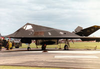 85-0834 @ MHZ - Another view of the F-117A Nighthawk, callsign Trend 72, of the 8th Fighter Squadron/49th Fighter Wing on the flight-line at the 1997 RAF Mildenhall Air Fete. - by Peter Nicholson