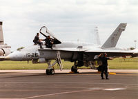 C15-38 @ MHZ - EF-18A Hornet of Ala 15 Spanish Air Force on the flight-line at the 1997 RAF Mildenhall Air Fete. - by Peter Nicholson