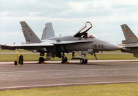 C15-38 @ MHZ - Another view of the EF-18A Hornet of Ala 15 Spanish Air Force on the flight-line at the 1997 RAF Mildenhall Air Fete. - by Peter Nicholson