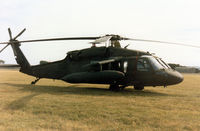 87-24645 @ EGQL - UH-60A Black Hawk of the US Army's 2nd Armoured Cavalry Regiment based in Germany on display at the 1990 RAF Leuchars Airshow. - by Peter Nicholson