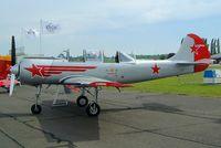 RA-44466 @ EGSX - Yakovlev Yak-52 [855905] North Weald~G 17/05/2002