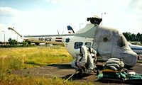 HA-BCB @ LHBP - Mil Mi-2 Hoplite [516302099] Budapest-Feriheghy~HA 15/06/1996. This was stored here pending rebuild for Repulesi museum.