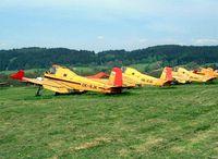 OK-RJK @ LKMR - Zlin Z.37T Agro Turbo [017] Marianske Lazne~OK 09/05/2002. Seen stored here with a number of other Zlin types.
