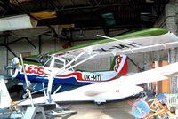 OK-MTI @ LKKL - Orlican L-60S Brigadyr [150815] Kladno~OK 08/05/2002. Tucked away in the back of a cluttered hangar.