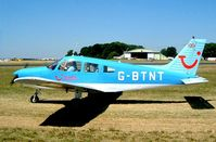 G-BTNT @ EGBP - Piper PA-28-151 Cherokee Warrior [28-7615401] Kemble~G 13/07/2003