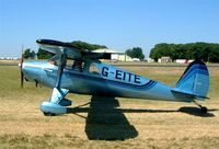 G-EITE @ EGBP - Luscombe 8A Silvaire [3407] Kemble~G 13/07/2003. Also wears former US markings of N71980.