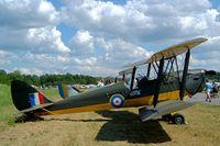 SE-AMY @ ESKB - De Havilland DH.82A Tiger Moth [82720] Barkarby~SE 01/06/2002