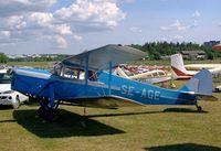 SE-AGE @ ESKB - De Havilland DH.87B Hornet Moth [8136] Barkarby~SE 01/06/2002