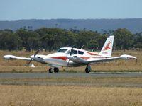VH-MEG @ YBSS - VH-MEG completing its landing roll on Rwy 09, Bacchus Marsh