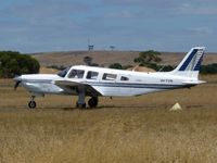 VH-TVN @ YBSS - Piper Lance VH-TVN taxying in after landing at Bacchus Marsh