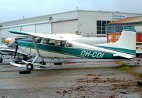 OH-CDI @ EFHF - Cessna A.185E Skywagon 185 [185-1529] Helsinki-Malmi~OH 14/05/2003. Seen here with snow ski's.