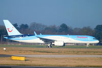 G-OOBA @ EGCC - Now in Thomson's new Dynamic Wave colour scheme - by Chris Hall