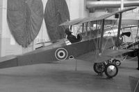 BAPC038 @ EGDX - Replica of the Scout aircraft operated by the RFC in 1915. The serial number A1742 is carried on the rudder (out of picture). Part of the RAF St Athan Historic Aircraft Collection mid-1970's. - by Roger Winser