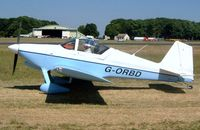 G-ORBD @ EGBP - Van's RV-6A [PFA 181-12677] Kemble~G 13/07/2003. Converted to a tail wheel in 2001.