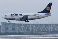 D-ABIR @ EDDP - FRA-shuttle is coming down on lousy cold rwy 08L... - by Holger Zengler