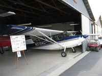 N519AC @ SZP - 2000 American Champion 7GCBC EXPLORER, Lycoming O-320 150 Hp, in hangar - by Doug Robertson