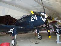 N4277N @ TMK - Douglas AD-4W Skyraider at the Tillamook Air Museum, Tillamook OR